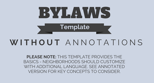 BYLAWS TEMPLATE (2)